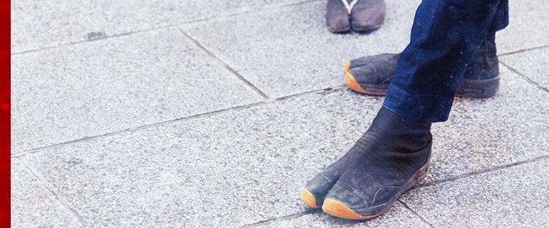 足袋を選ぶ画像の画像
