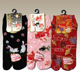 足袋靴下 3足組 【女性柄】 フリーサイズ(22~25cm)