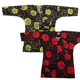鯉口シャツ【大薔薇/大バラ】赤・黄