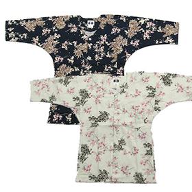 鯉口シャツ【桜に唐辛子】白・濃紺