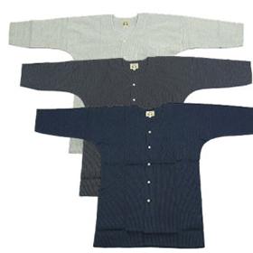 刺し子の鯉口シャツ