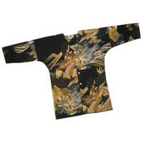 ポリエステルの鯉口シャツ